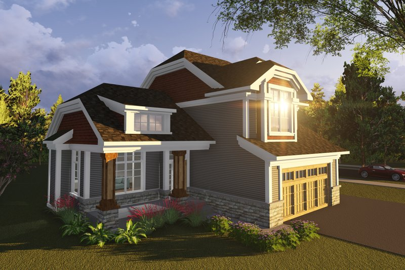 Home Plan - Exterior - Front Elevation Plan #70-1236