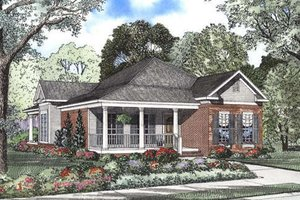 Farmhouse Exterior - Front Elevation Plan #17-1126