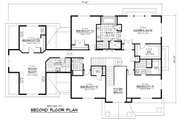 Colonial Style House Plan - 5 Beds 3.5 Baths 4562 Sq/Ft Plan #51-331 Floor Plan - Upper Floor Plan