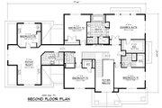 Colonial Style House Plan - 5 Beds 3.5 Baths 4562 Sq/Ft Plan #51-331 Floor Plan - Upper Floor Plan