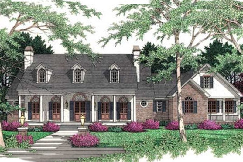 Southern Exterior - Front Elevation Plan #406-172