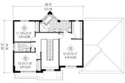 Contemporary Style House Plan - 3 Beds 2 Baths 2558 Sq/Ft Plan #25-4625 Floor Plan - Upper Floor Plan