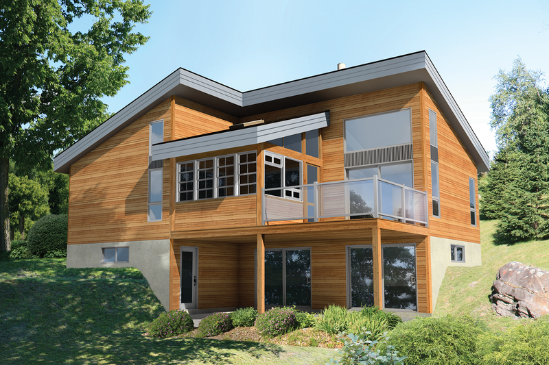 Contemporary Style House Plan - 2 Beds 1 Baths 1016 Sq/Ft Plan #25-4573 Exterior - Front Elevation