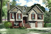 House Plan Design - European Exterior - Front Elevation Plan #17-301