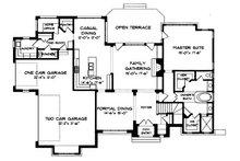 European Floor Plan - Main Floor Plan Plan #413-118
