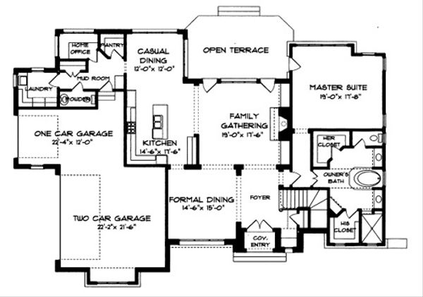 European Floor Plan - Main Floor Plan Plan #413-118