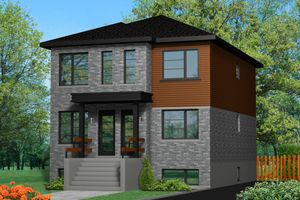Contemporary Exterior - Front Elevation Plan #25-4279