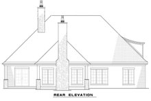 European Exterior - Rear Elevation Plan #17-3416