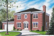 European Style House Plan - 3 Beds 2.5 Baths 1950 Sq/Ft Plan #23-2118 Exterior - Front Elevation