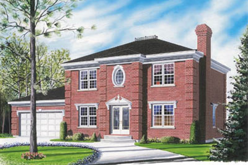 European Exterior - Front Elevation Plan #23-2118