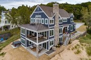Cottage Style House Plan - 4 Beds 3.5 Baths 3577 Sq/Ft Plan #928-354 Exterior - Rear Elevation