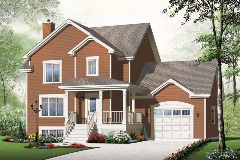 Country Exterior - Front Elevation Plan #23-2509