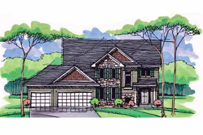 Colonial Exterior - Front Elevation Plan #51-1003 - Houseplans.com