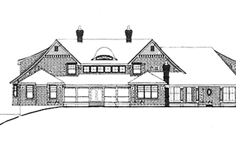 Traditional Exterior - Rear Elevation Plan #314-295 - Houseplans.com