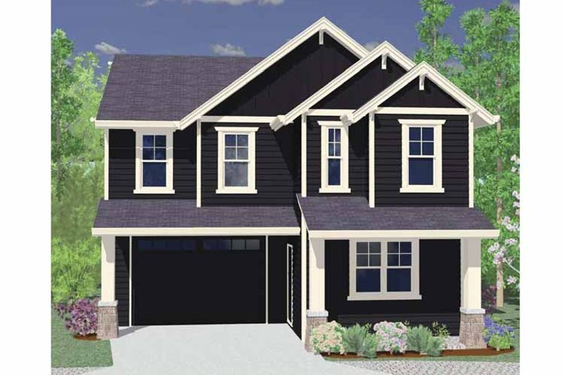 Traditional Exterior - Front Elevation Plan #509-175 - Houseplans.com