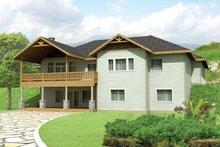 House Plan Design - Craftsman Exterior - Rear Elevation Plan #117-858