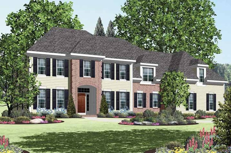 Dream House Plan - Classical Exterior - Front Elevation Plan #328-459