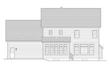 Colonial Exterior - Rear Elevation Plan #1010-48