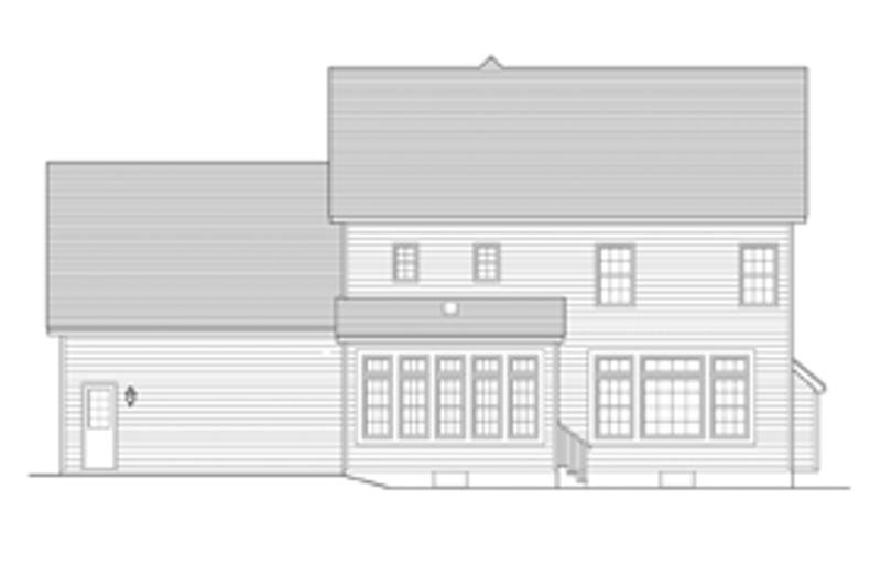 Colonial Exterior - Rear Elevation Plan #1010-48 - Houseplans.com