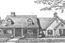 Dream House Plan - Traditional Exterior - Front Elevation Plan #310-613