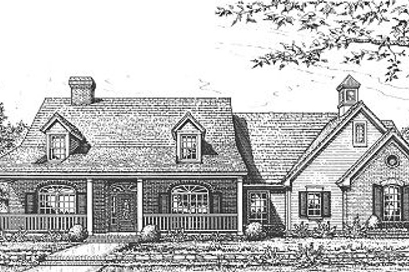 Traditional Style House Plan - 3 Beds 2 Baths 2256 Sq/Ft Plan #310-613 Exterior - Front Elevation