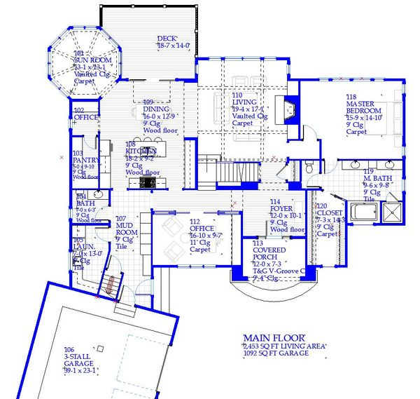 Traditional Floor Plan - Main Floor Plan Plan #901-137
