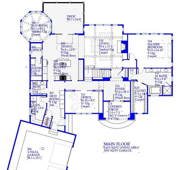 Architectural House Design - Traditional Floor Plan - Main Floor Plan #901-137