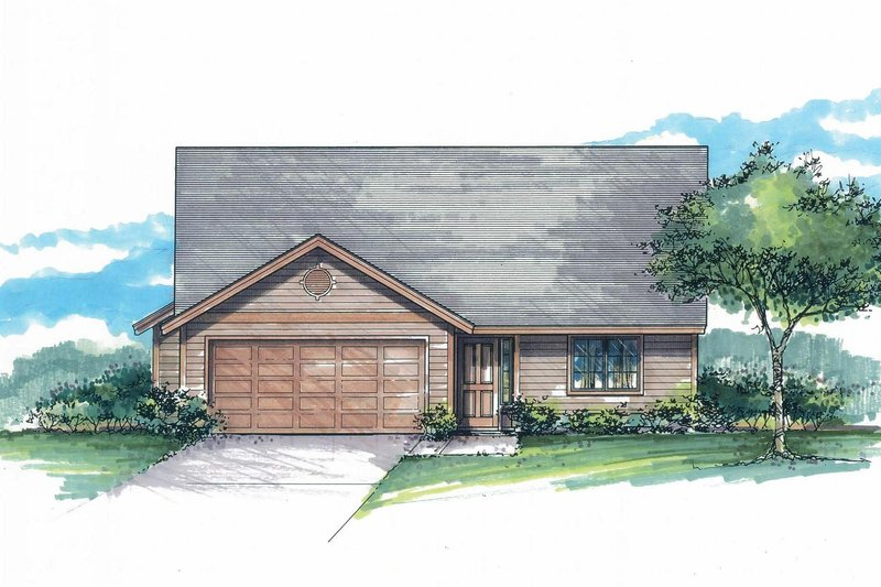 Craftsman Exterior - Front Elevation Plan #53-592