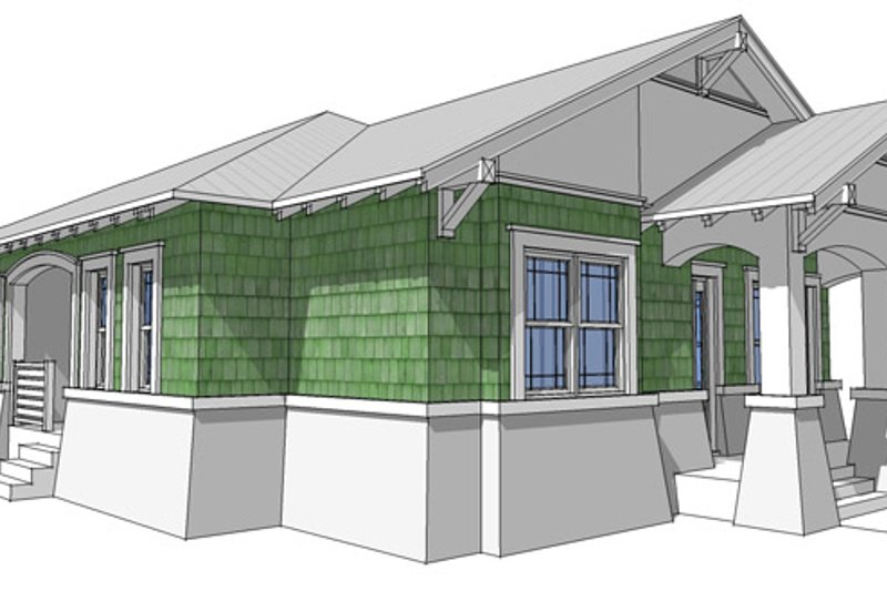 Craftsman Exterior - Other Elevation Plan #64-264 - Houseplans.com