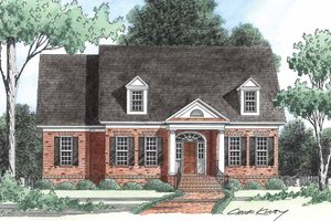 House Plan Design - Classical Exterior - Front Elevation Plan #1054-7
