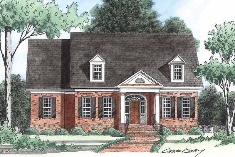 Classical Exterior - Front Elevation Plan #1054-7