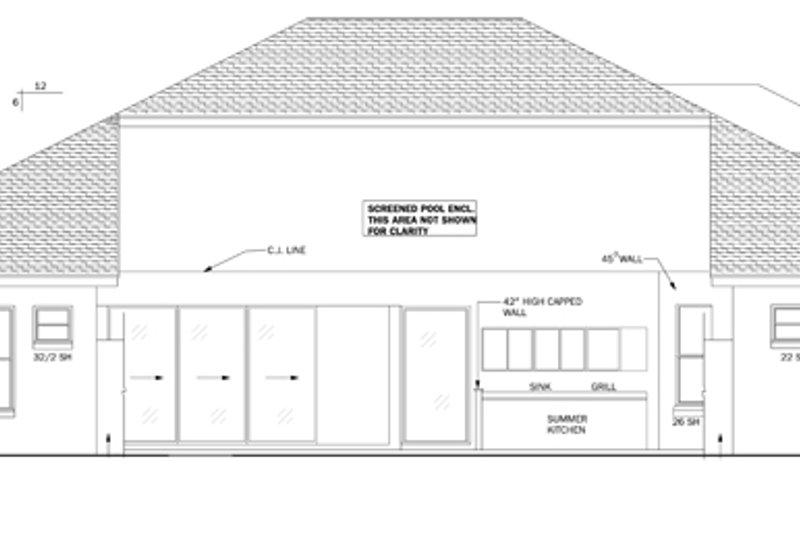 Mediterranean Exterior - Other Elevation Plan #1058-43 - Houseplans.com