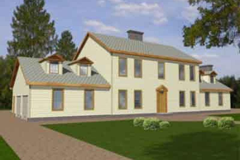 House Design - Colonial Exterior - Front Elevation Plan #117-218