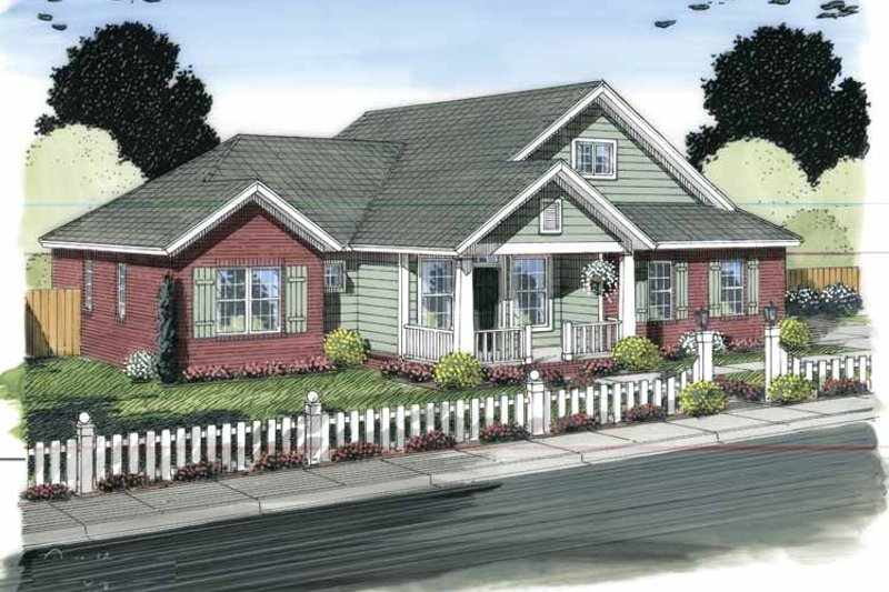 Traditional Exterior - Front Elevation Plan #513-2149 - Houseplans.com