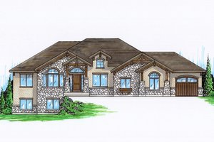 Architectural House Design - Craftsman Exterior - Front Elevation Plan #945-104