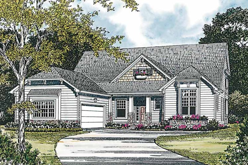Craftsman Exterior - Front Elevation Plan #453-216