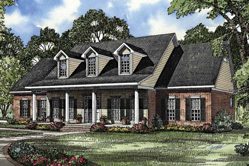 Colonial Exterior - Front Elevation Plan #17-2895 - Houseplans.com