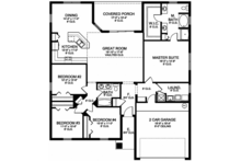 Traditional Floor Plan - Main Floor Plan Plan #1058-120