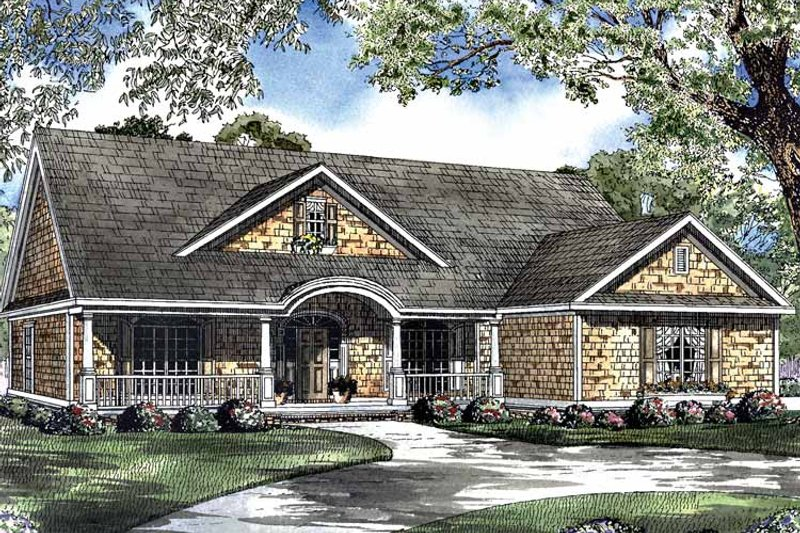 Country Exterior - Front Elevation Plan #17-2949 - Houseplans.com