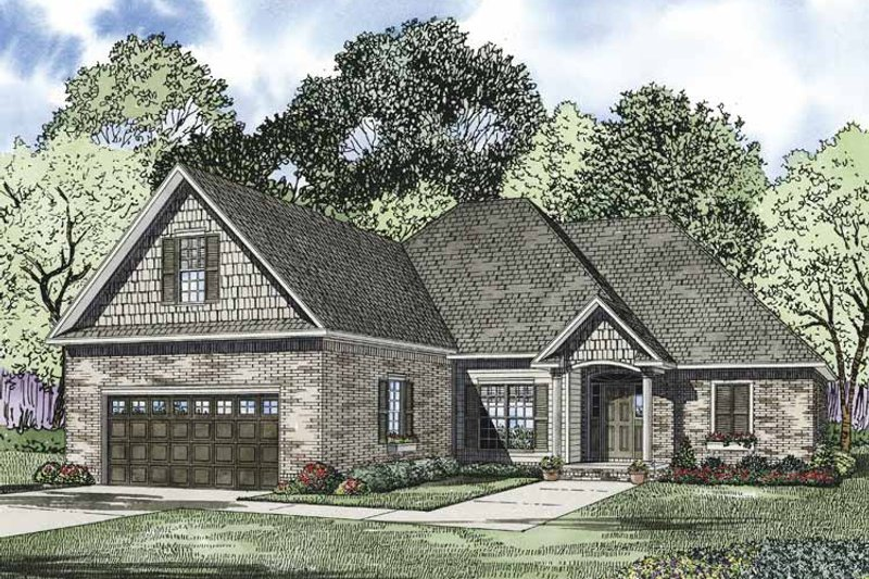 Ranch Exterior - Front Elevation Plan #17-3324 - Houseplans.com