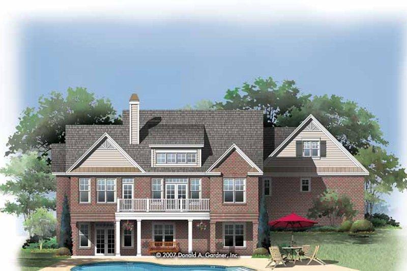 Traditional Exterior - Rear Elevation Plan #929-829 - Houseplans.com