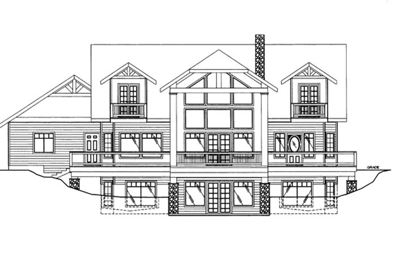 Craftsman Exterior - Rear Elevation Plan #117-841 - Houseplans.com