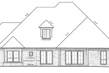 House Plan Design - European Exterior - Rear Elevation Plan #310-1271