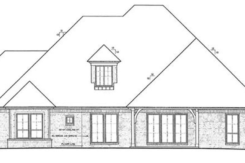 European Exterior - Rear Elevation Plan #310-1271 - Houseplans.com