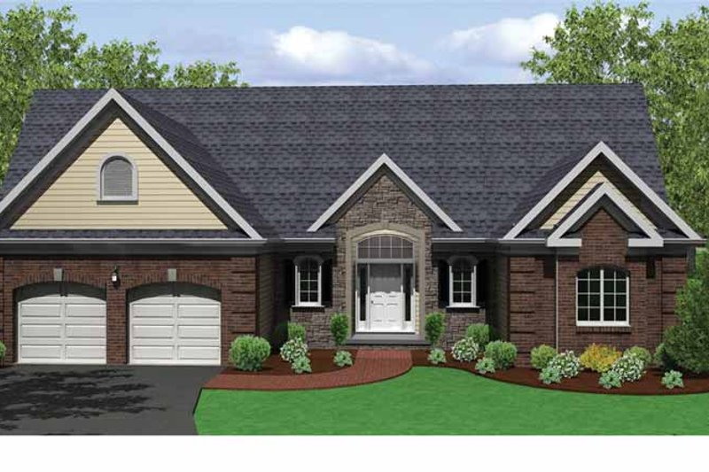 Home Plan - Ranch Exterior - Front Elevation Plan #1010-26