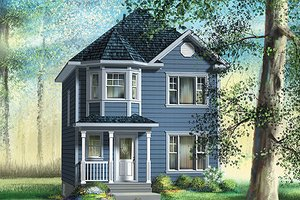 Victorian Exterior - Front Elevation Plan #25-4048