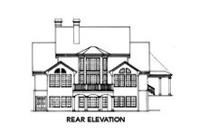 Colonial Exterior - Rear Elevation Plan #429-13