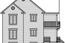 Home Plan - European Exterior - Rear Elevation Plan #23-773