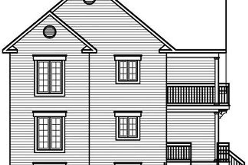 European Exterior - Rear Elevation Plan #23-773 - Houseplans.com