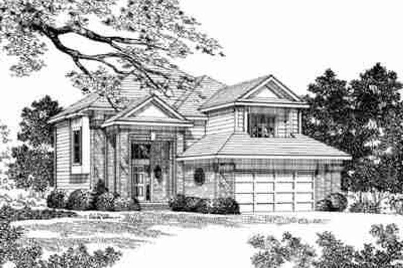 Traditional Exterior - Front Elevation Plan #72-343 - Houseplans.com
